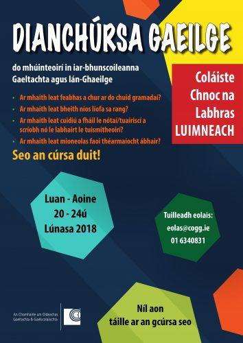 Intensive Irish Course 2018